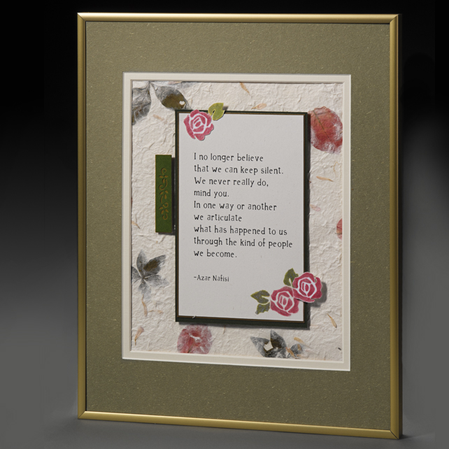 Handcrafted 2D Framed Quotation - Double Mat